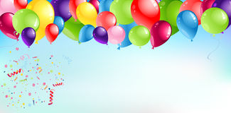 Balloons Header Background Stock Images