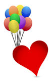 Balloons and heart Stock Image
