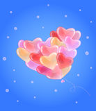 Balloons in heart form Royalty Free Stock Images