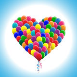 Balloons in heart shape Royalty Free Stock Photo