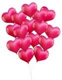 Balloons Hearts Stock Photography
