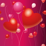Balloons and hearts Stock Photo