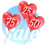 Balloons hearts sale illustration Stock Photography