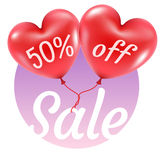 Balloons hearts sale illustration Stock Photo