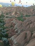 Balloons. Heat balloons in cappadocia adventure of nature Stock Photo