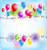 Balloons holiday card Royalty Free Stock Photography