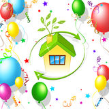 Balloons Home Represents Housing House And Residence Royalty Free Stock Photos