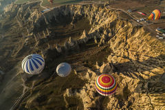 Balloons hovering over the Love vally Stock Photos
