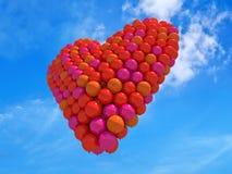 Balloons il cuore Immagini Stock
