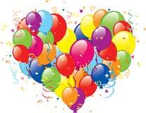 Balloons il cuore Immagini Stock Libere da Diritti
