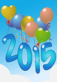 2015 balloons Stock Photos