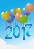 2017 balloons Stock Photography