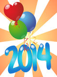 2014 balloons Stock Photos