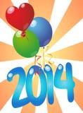 2014 balloons Stock Photos