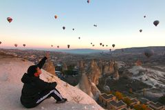 Free Balloons In Cappadocia Royalty Free Stock Images - 48017659
