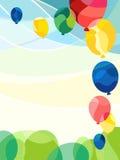 Balloons In Sky Stock Photo