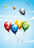 New year 2014 balloons Royalty Free Stock Photography