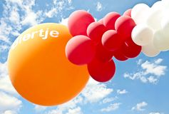 Balloons with inscription: 'Biertje Stock Photography