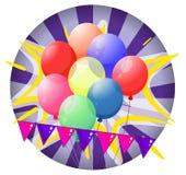 Balloons inside the spinning wheel Stock Photos