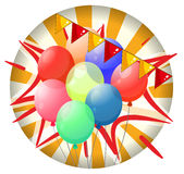 Balloons inside the spinning wheel Royalty Free Stock Photography