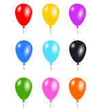 Balloons isolated. Colourful balloons that can be used for parties and birthdays. Kids love balloons Stock Image