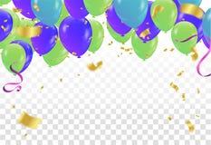 Balloons isolated. Celebration party banner. Illustration eps.10 vector illustration