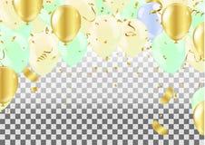 Balloons isolated. Celebration party banner. Illustration eps.10 stock illustration