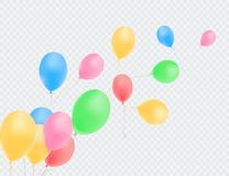 Balloons isolated. Color composition of vector realistic balloons. Vector illustration royalty free illustration