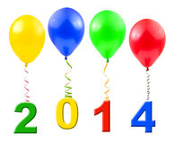 Balloons and 2014 Royalty Free Stock Image