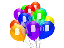 Balloons isolated on white. Balloons isolated on a white background. 3D rendered illustration Royalty Free Stock Image