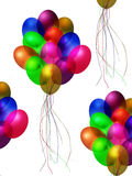 Balloons jewel tones celebration party streamers floating away Stock Photo