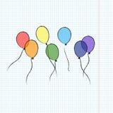 Balloons l'insieme variopinto Immagini Stock Libere da Diritti
