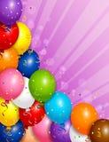 Balloons la priorità bassa Fotografia Stock