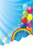 Balloons la priorità bassa Immagini Stock Libere da Diritti