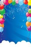 Balloons la priorità bassa Fotografia Stock Libera da Diritti