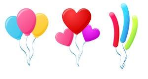 Balloons la raccolta Immagine Stock Libera da Diritti