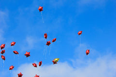 Balloons. Launched in the may 9 victory day Royalty Free Stock Image