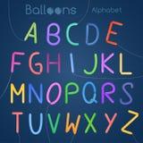 Balloons le lettere dell'alfabeto Immagine Stock Libera da Diritti
