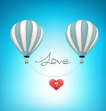 Balloons Lift heart love valentine concept Royalty Free Stock Photography