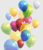 Balloons. A lot of  bright balloons illustration Royalty Free Stock Photography