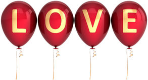 Balloons Love party decoration Royalty Free Stock Photos
