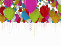 Balloons many colors flying Stock Images