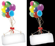 Balloons and message Royalty Free Stock Image