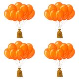 Balloons with money bags, set Royalty Free Stock Images