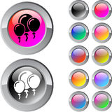 Balloons multicolor round button. Balloons multicolor glossy round web buttons stock illustration