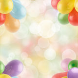 Balloons. Multicolored balloons abstract color background Stock Image