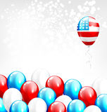 Balloons in national USA colors on grayscale Stock Photos