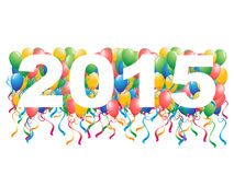 2015 balloons New Year background. The background of 2015 new year calendar on balloons royalty free illustration
