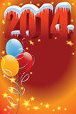 Balloons 2014. New Year decoration ready for posters and cards Stock Photography