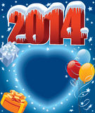 Balloons 2014. New Year decoration ready for posters and cards royalty free illustration